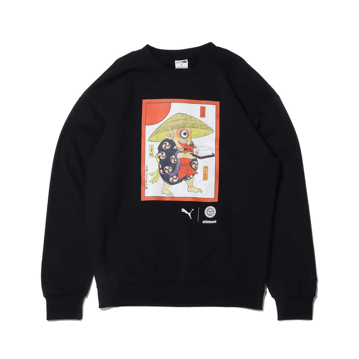 PUMA atmos×THREE TIDES TATTOO crew neck sweat BLACK 20HO-S_photo_large