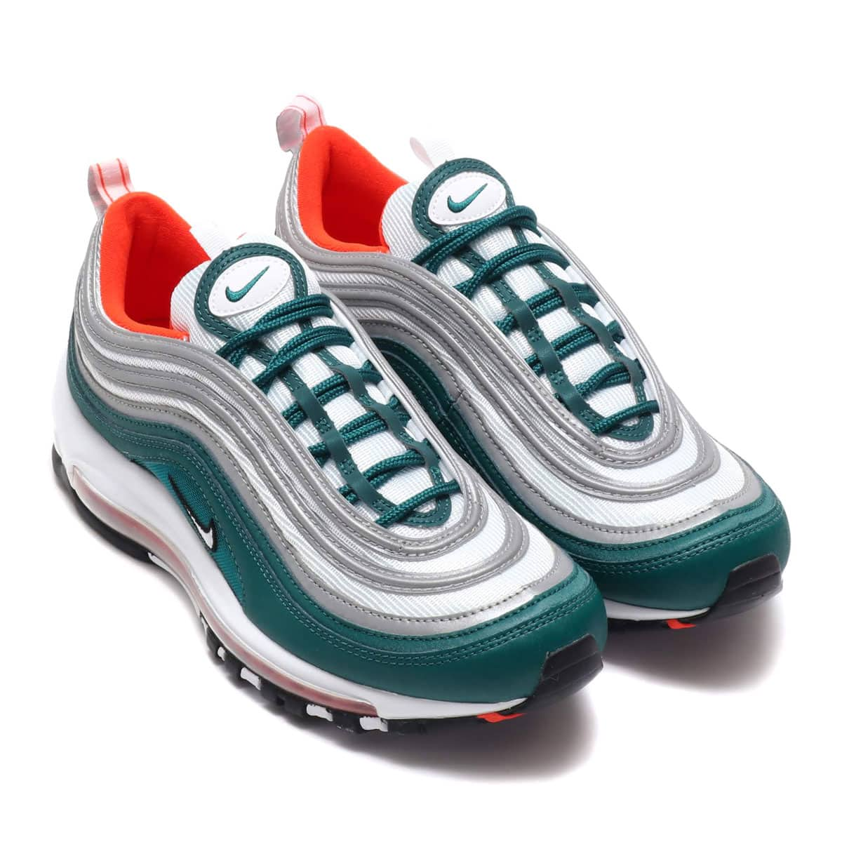 buy online 97597 d635d NIKE AIR MAX 97 RAINFOREST WHITE-TEAM ORANGE-BLACK 18FA-I