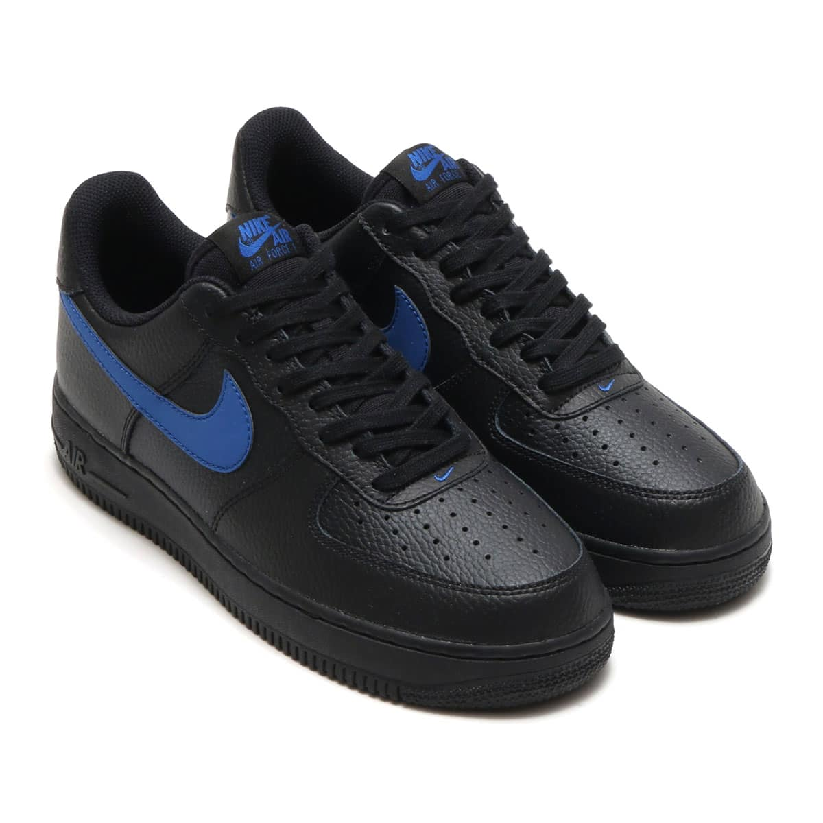 NIKE AIR FORCE 1 '07 BLACK/GYM BLUE_photo_large