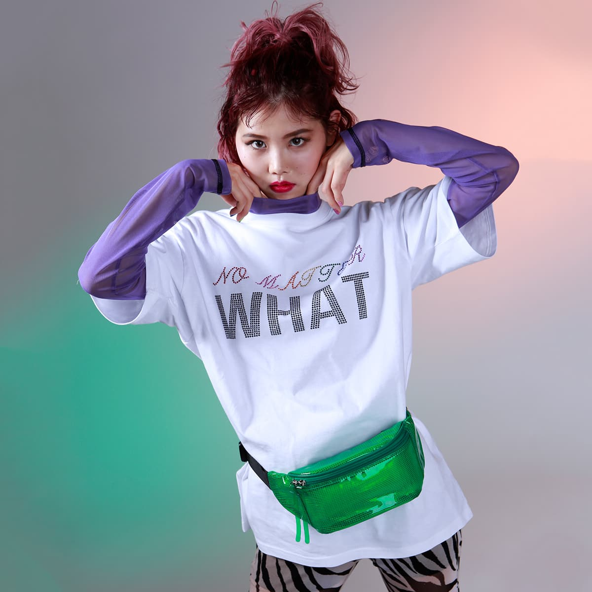 atmos pink × ayayan オクタゴン Tシャツ ワンピ WHITE 19SP-S_photo_large