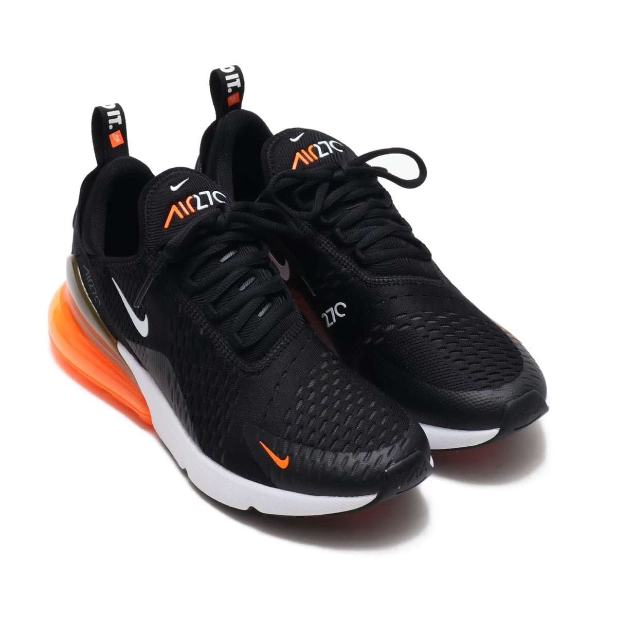Nike Air Max 270 Just Do It Black white total orange AH8050 014