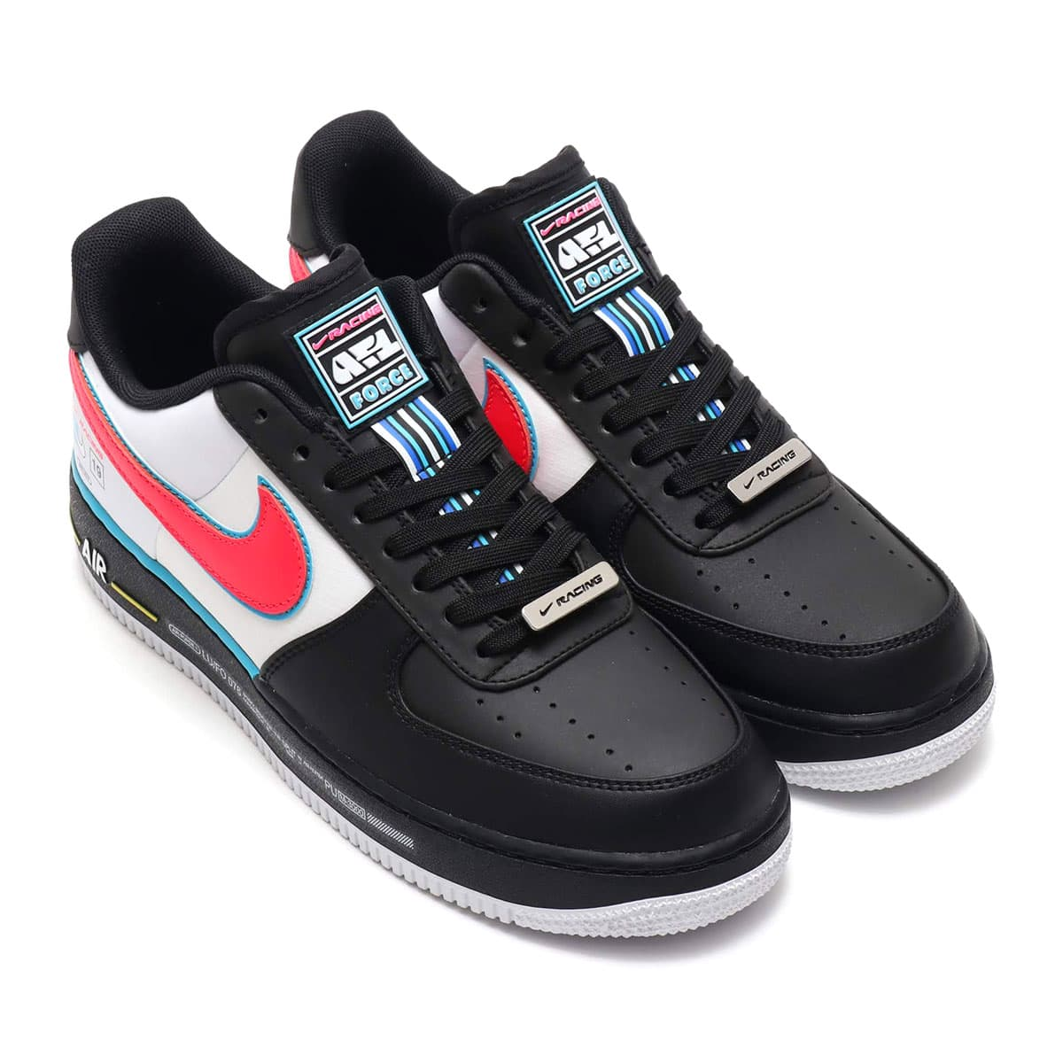 NIKE AIR FORCE 1 '07 QS  BLACK/RACER BLUE-WHITE 19SP-I_photo_large