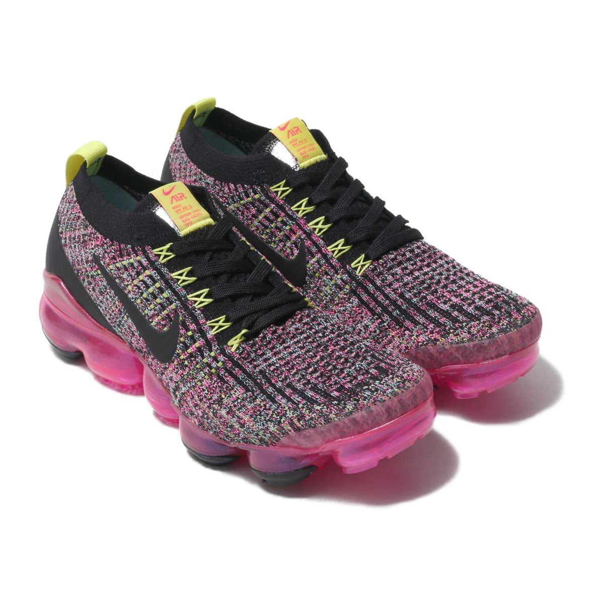 NIKE W AIR VAPORMAX FLYKNIT 3 BLACK/BLACK-PINK BLAST-HYPER TURQ 19FA-I_photo_large