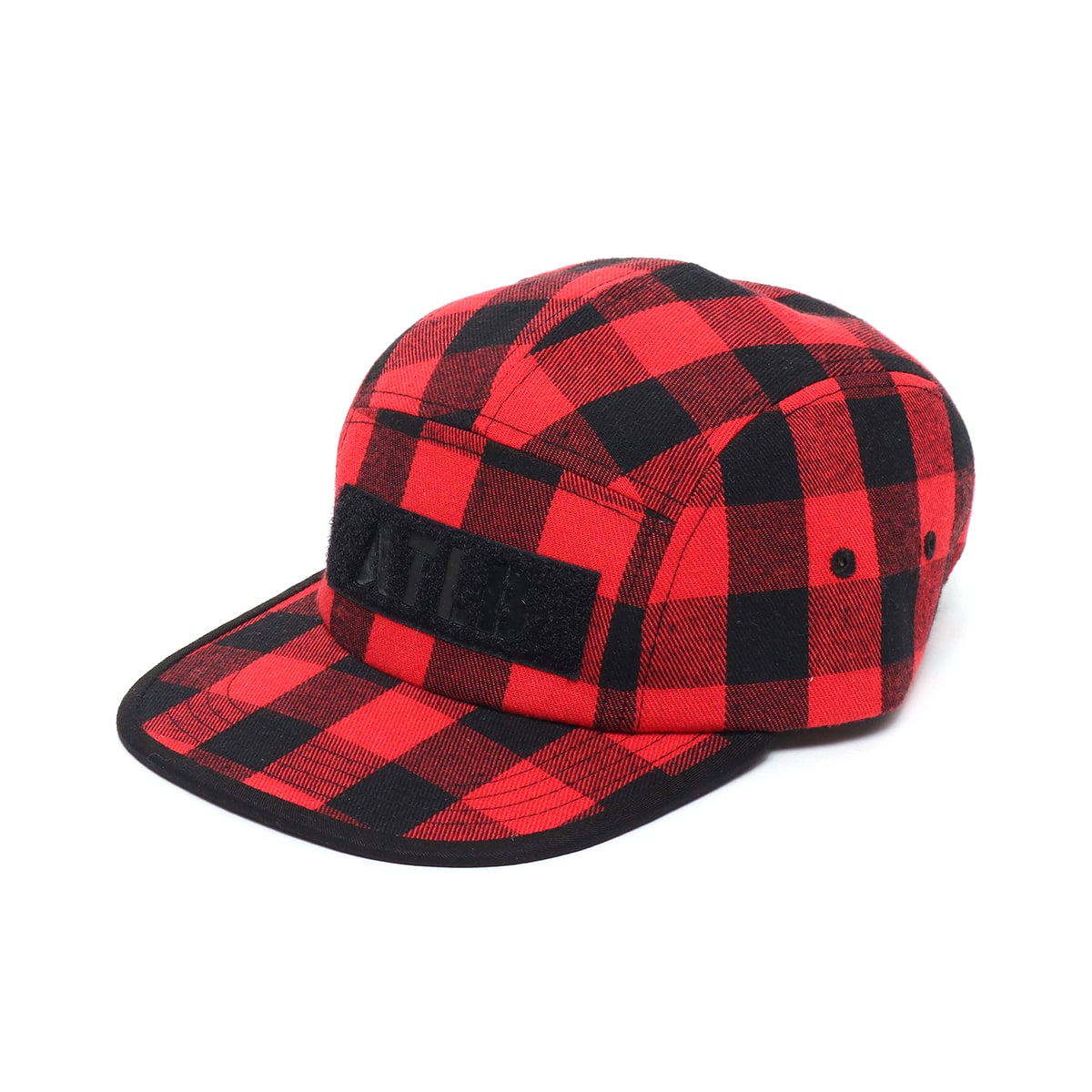 ATMOS LAB FLANNEL CHECK CAMP CAP  RED_photo_large