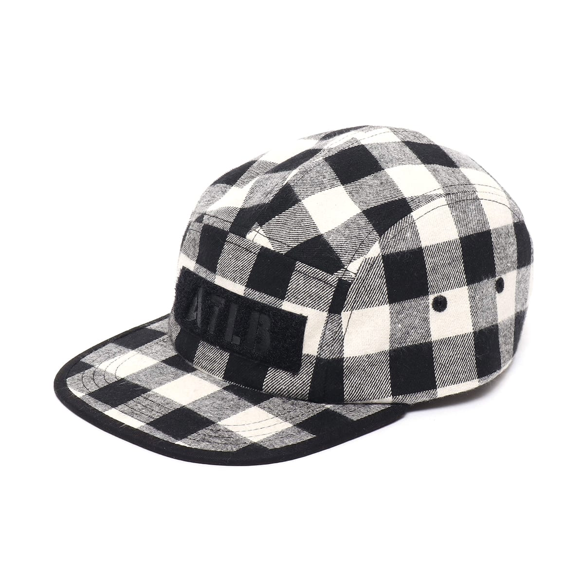 ATMOS LAB FLANNEL CHECK CAMP CAP  WHITE_photo_large