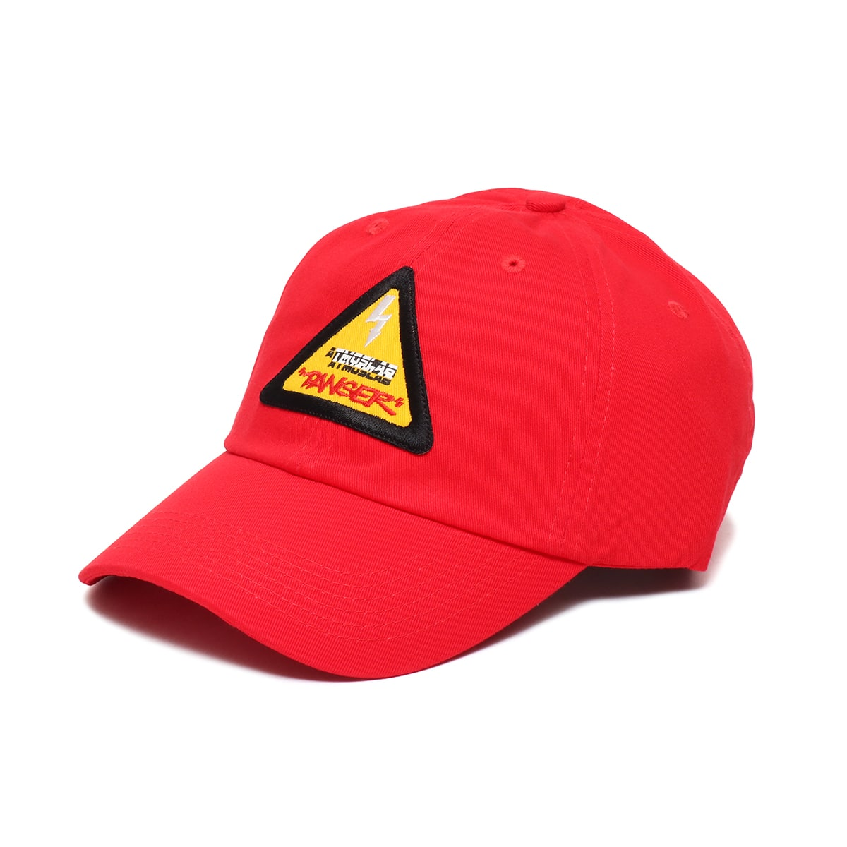 ATMOS LAB DANGER LOGO 6 PANEL CAP  RED_photo_large