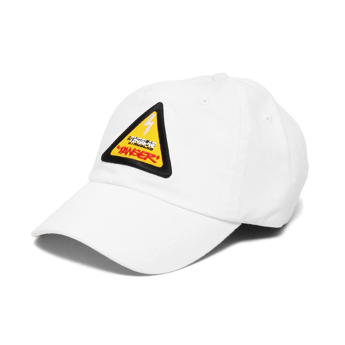 ATMOS LAB DANGER LOGO 6 PANEL CAP  WHITE_photo_large