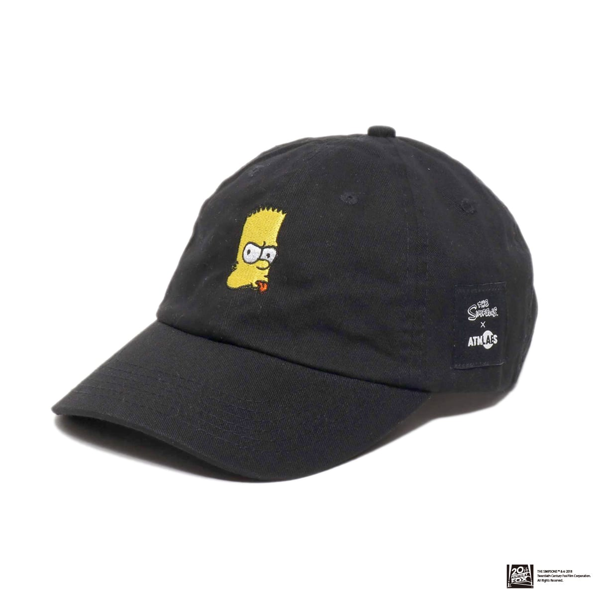 THE SIMPSONS x ATMOS LAB BART EMBROIDERY 6 PANEL CAP  BLACK 18FW-I_photo_large