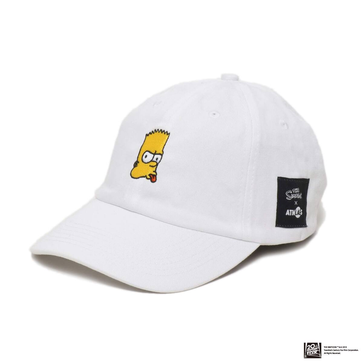 THE SIMPSONS x ATMOS LAB BART EMBROIDERY 6 PANEL CAP  WHITE 18FW-I_photo_large