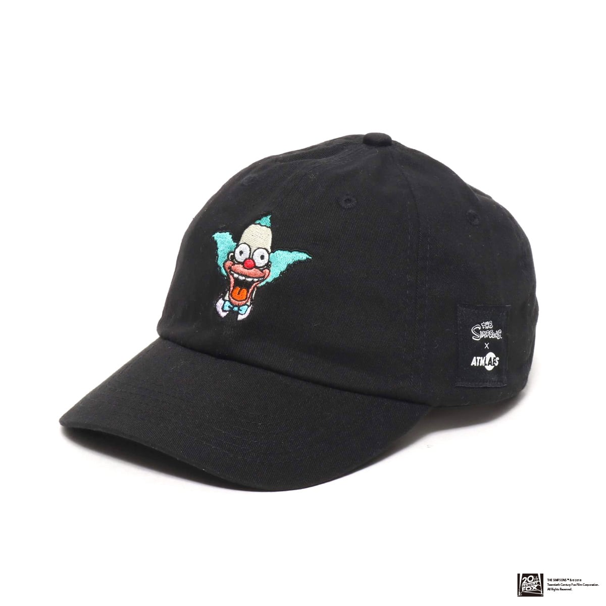 THE SIMPSONS x ATMOS LAB KRUSTY EMBROIDERY 6 PANEL CAP  BLACK 18FW-I_photo_large