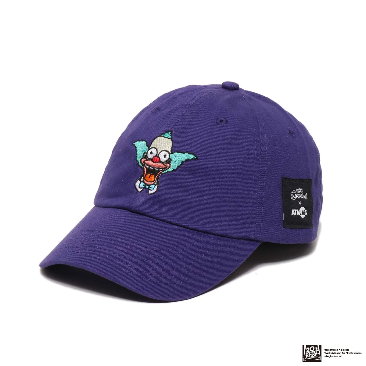 THE SIMPSONS x ATMOS LAB KRUSTY EMBROIDERY 6 PANEL CAP  PURPLE 18FW-I_photo_large