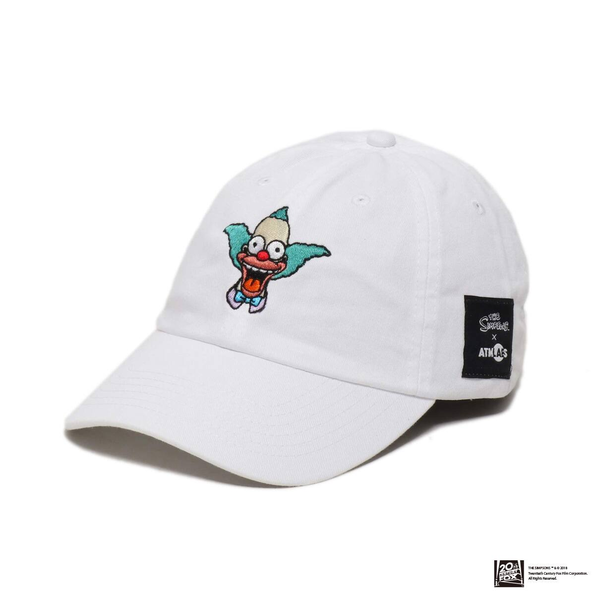 THE SIMPSONS x ATMOS LAB KRUSTY EMBROIDERY 6 PANEL CAP  WHITE 18FW-I_photo_large