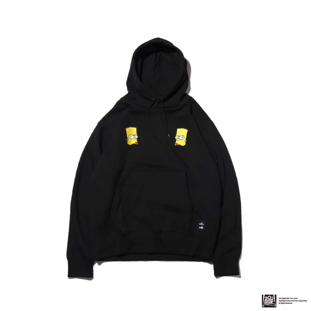 THE SIMPSONS x ATMOS LAB BART EMBROIDERY HOODIE  BLACK 18FW-I_photo_large