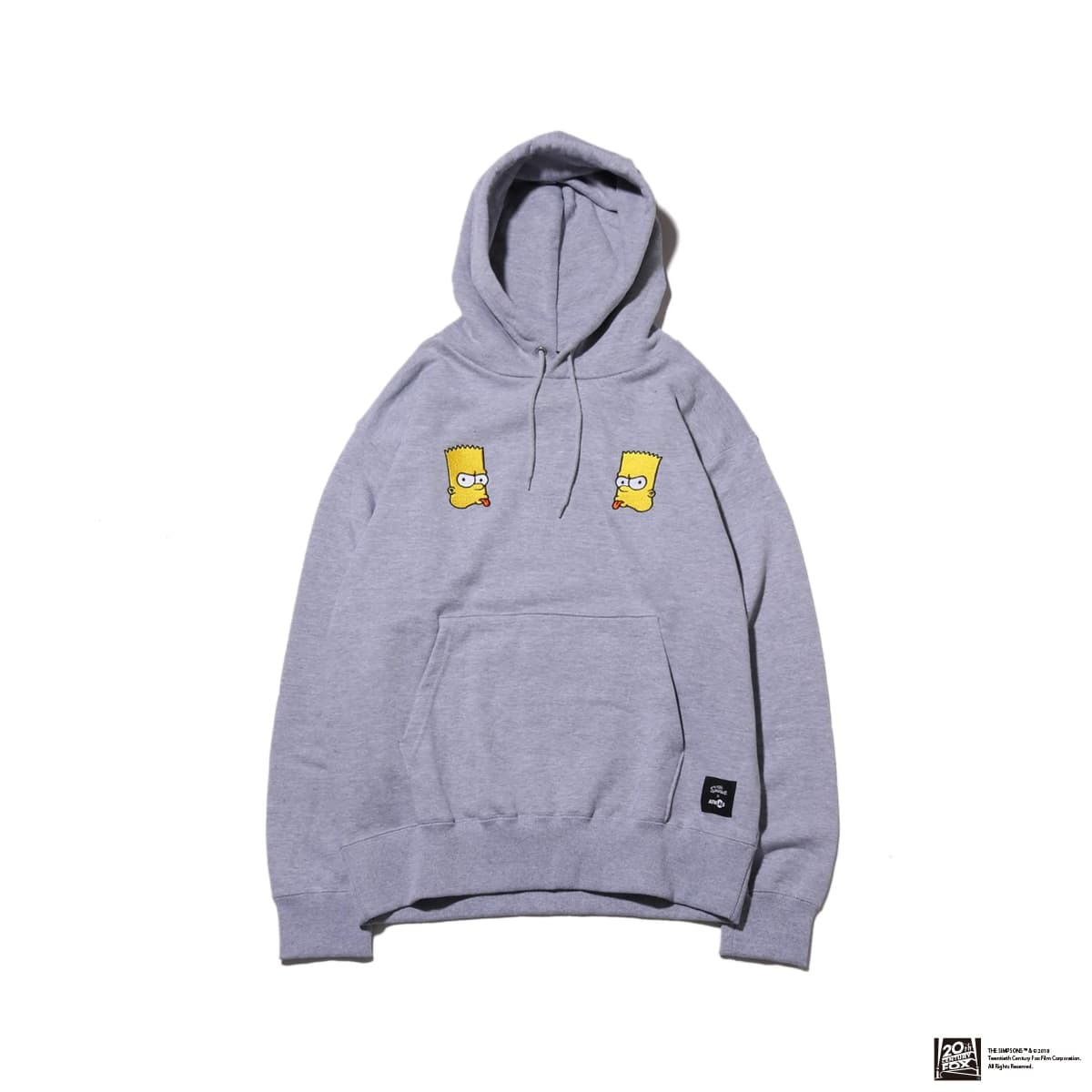 THE SIMPSONS x ATMOS LAB BART EMBROIDERY HOODIE  GRAY 18FW-I_photo_large