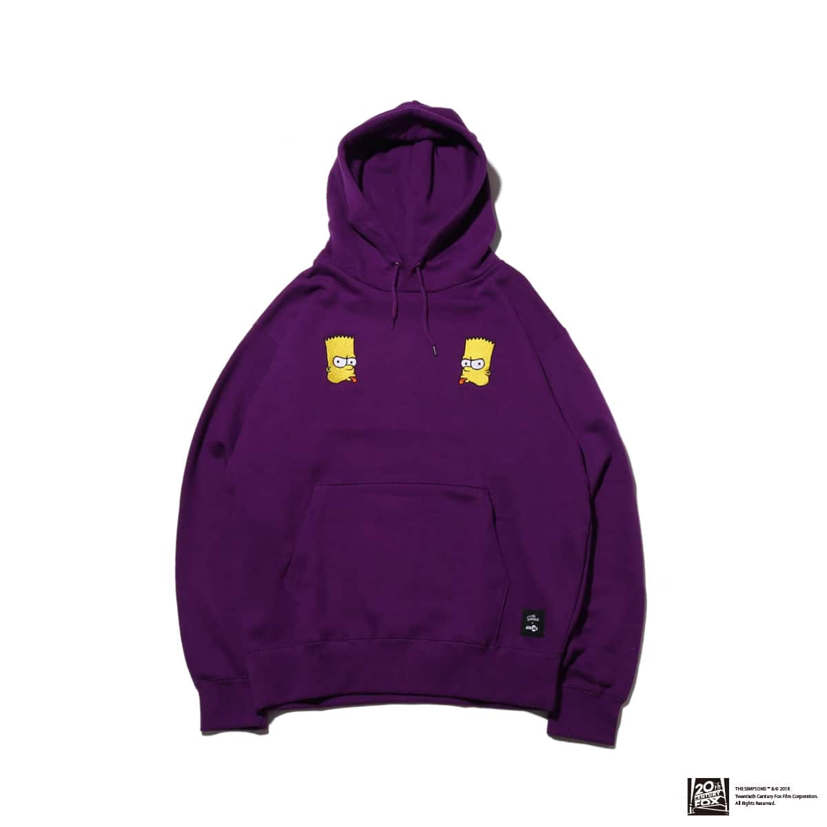 THE SIMPSONS x ATMOS LAB BART EMBROIDERY HOODIE  PURPLE 18FW-I_photo_large