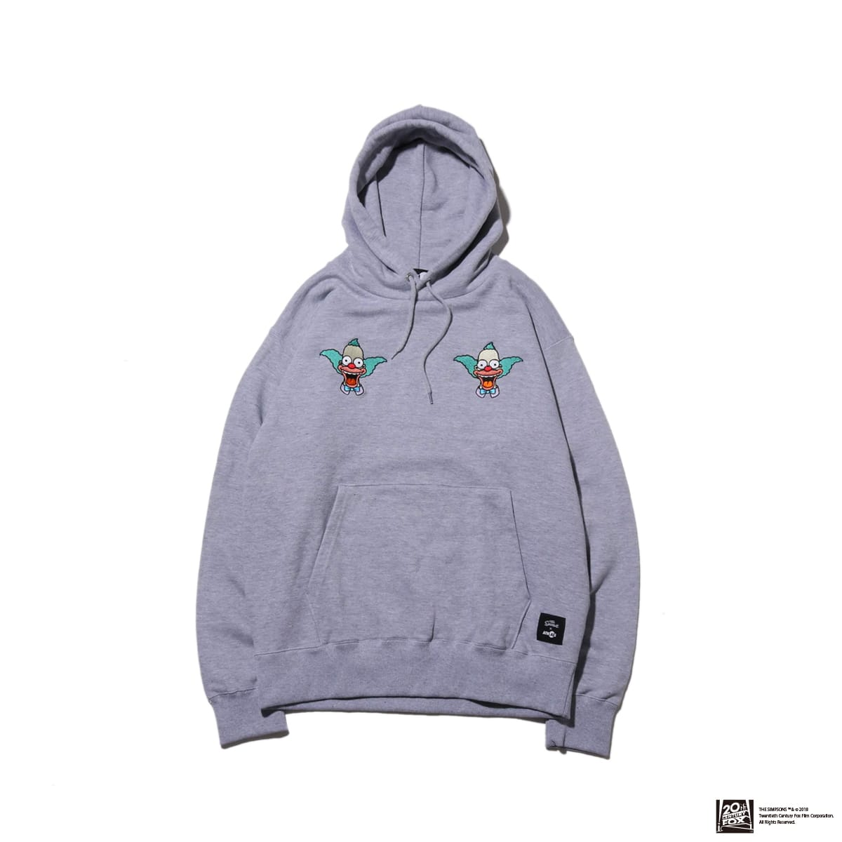 THE SIMPSONS x ATMOS LAB KRUSTY EMBROIDERY HOODIE  GRAY 18FW-I_photo_large
