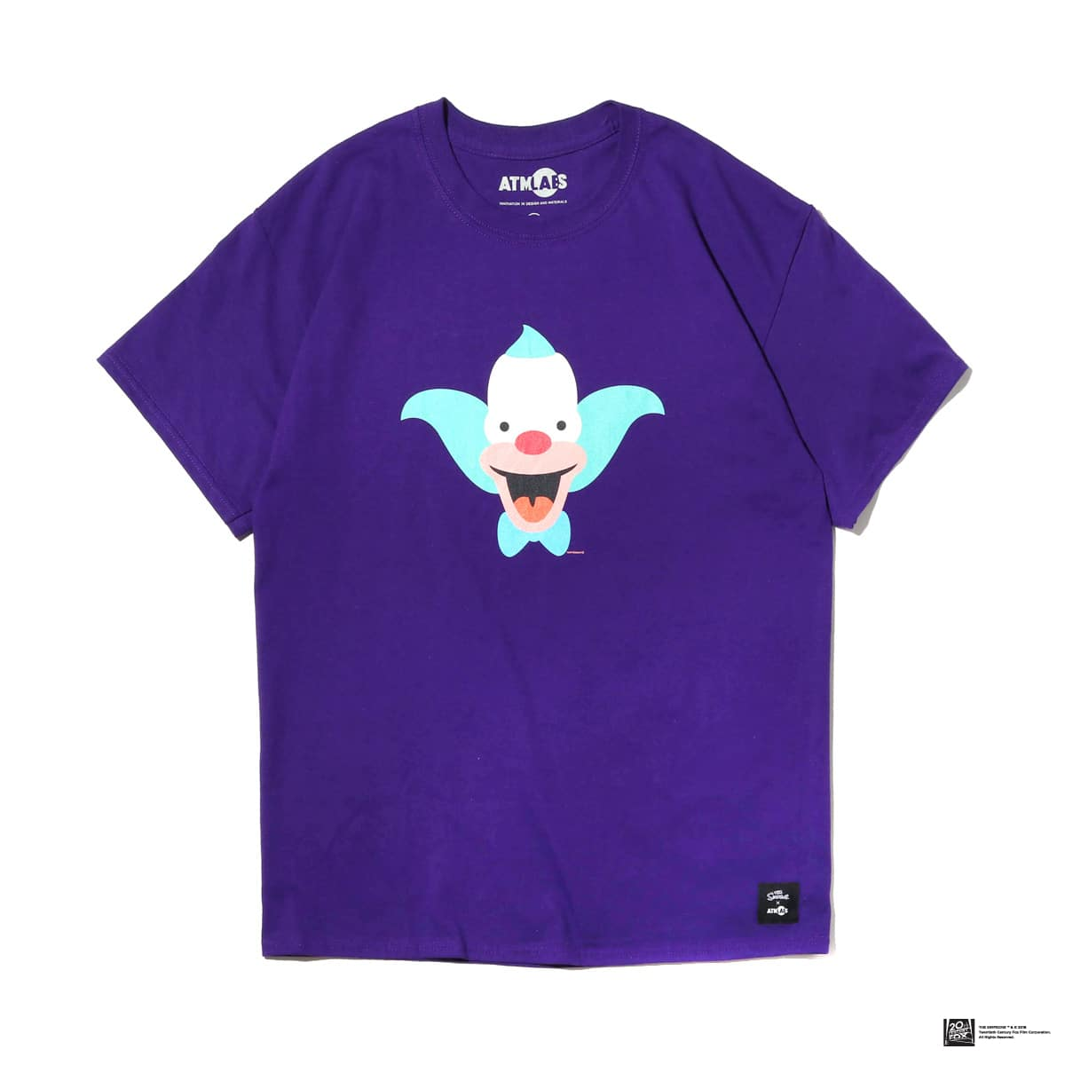 ATMOS LAB THE SIMPSONS x ATMOS LAB KRUSTY TEE  PURPLE_photo_large