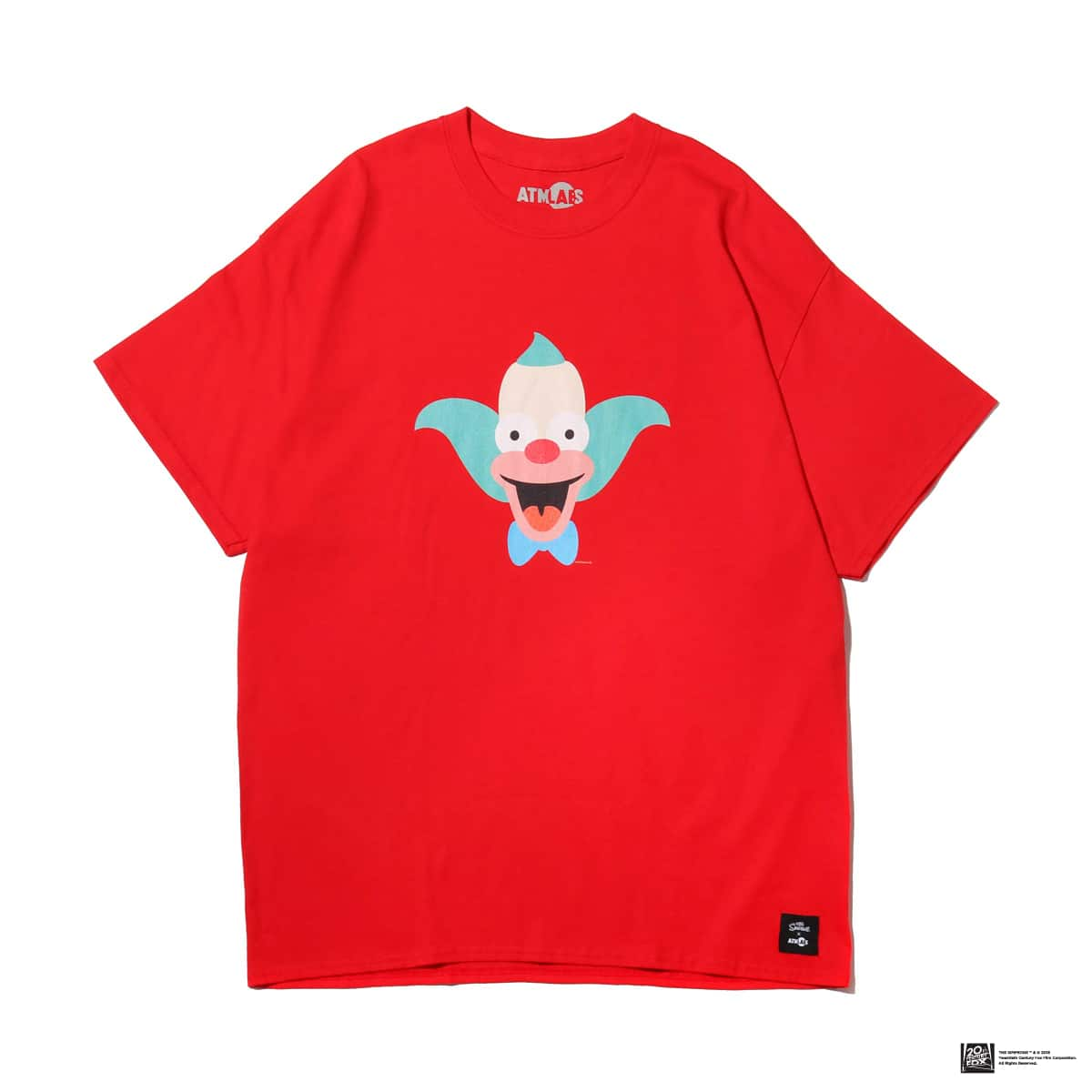 ATMOS LAB THE SIMPSONS x ATMOS LAB KRUSTY TEE  RED_photo_large