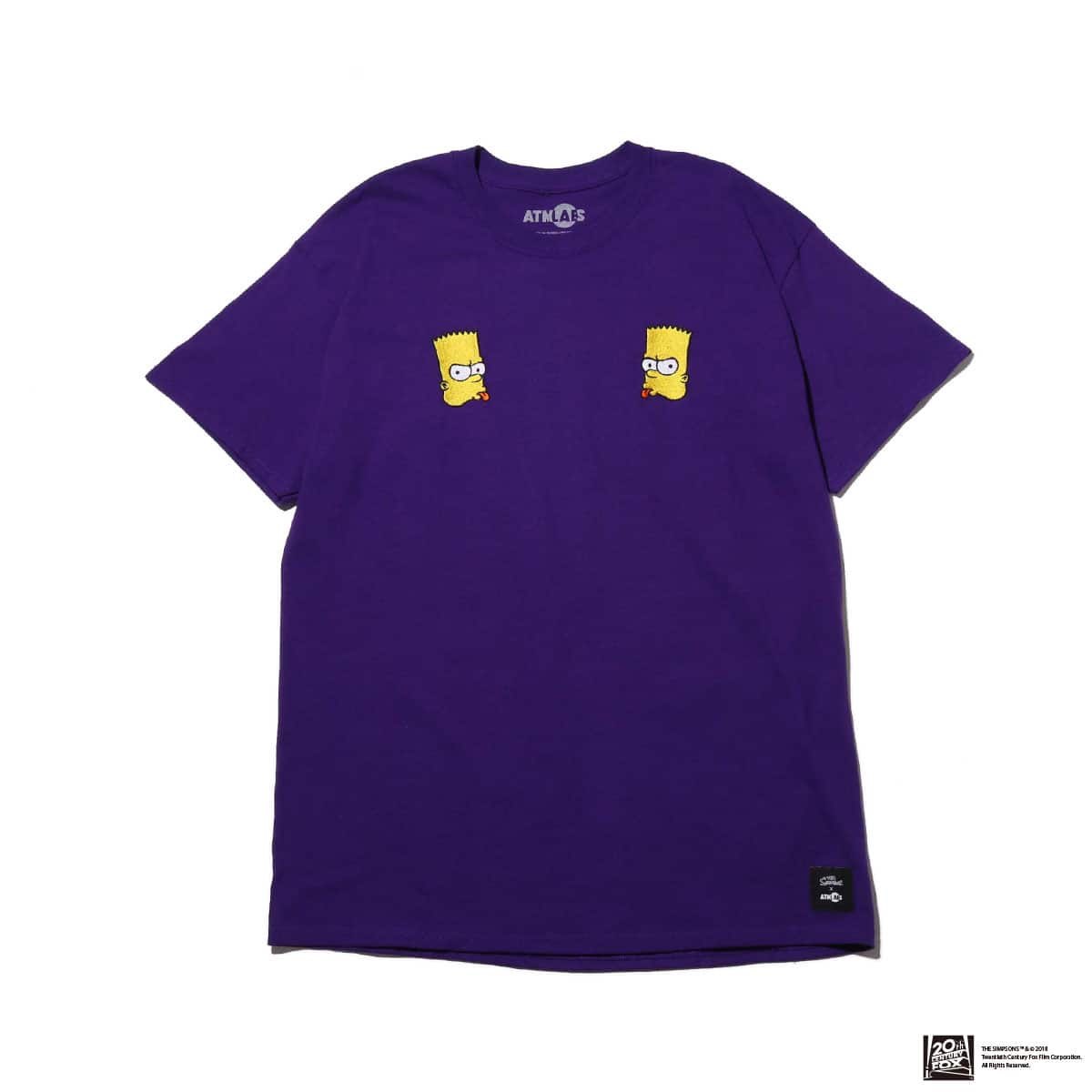 THE SIMPSONS x ATMOS LAB BART EMBROIDERY TEE  PURPLE 18FW-I_photo_large