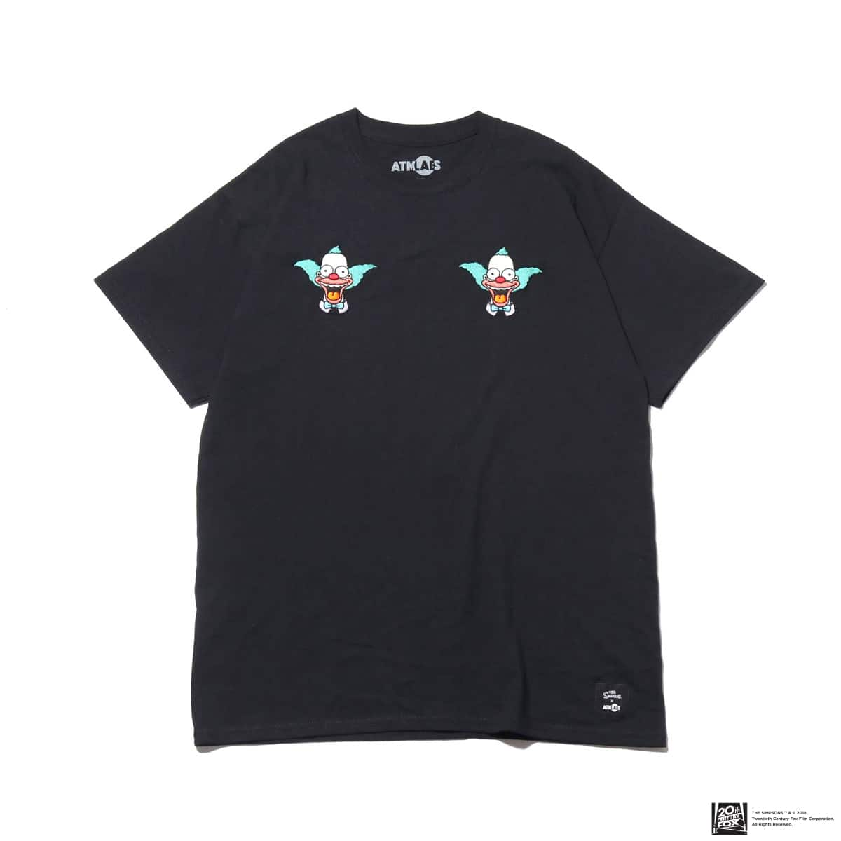 THE SIMPSONS x ATMOS LAB KRUSTY EMBROIDERY TEE  BLACK 18FW-I_photo_large