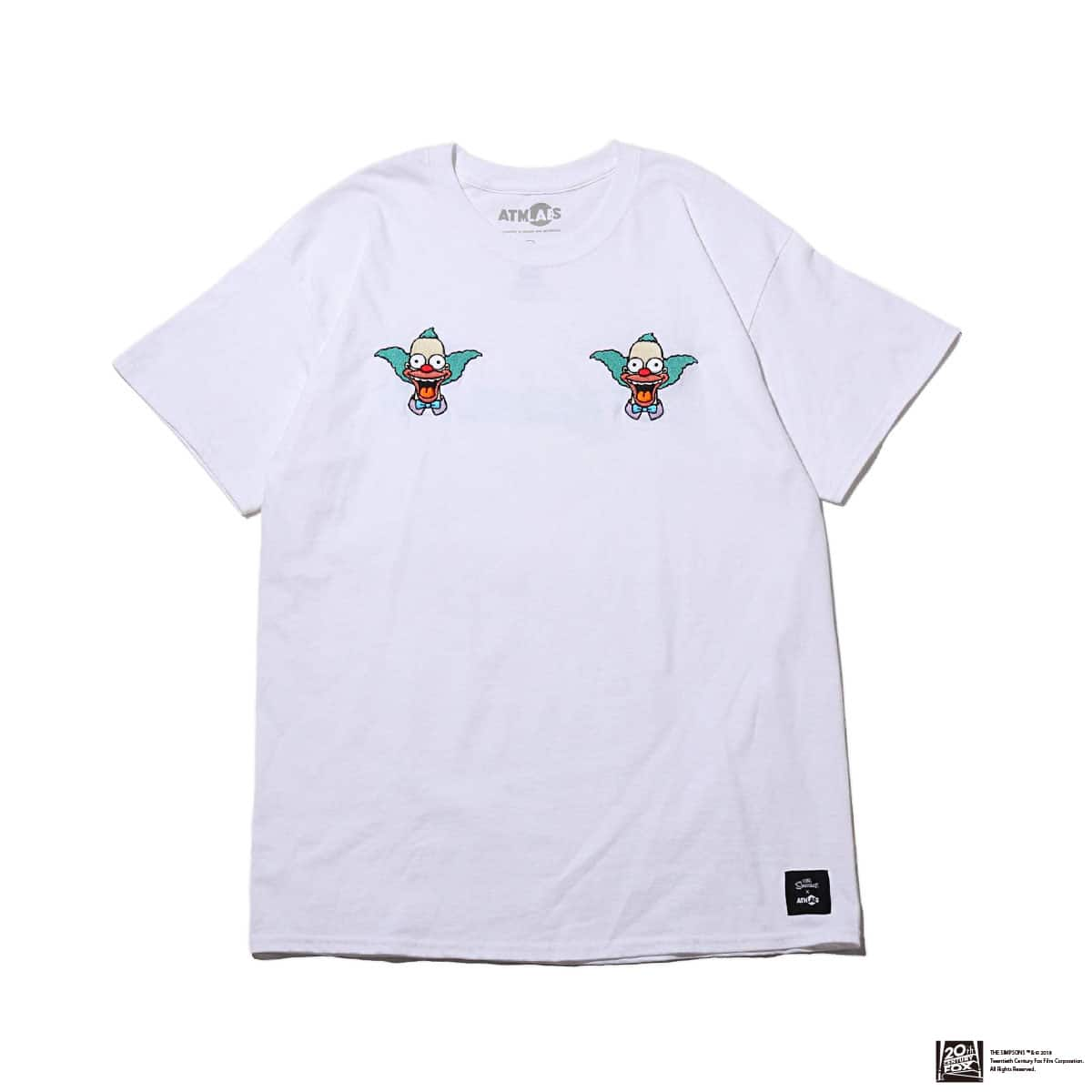 THE SIMPSONS x ATMOS LAB KRUSTY EMBROIDERY TEE  WHITE 18FW-I_photo_large