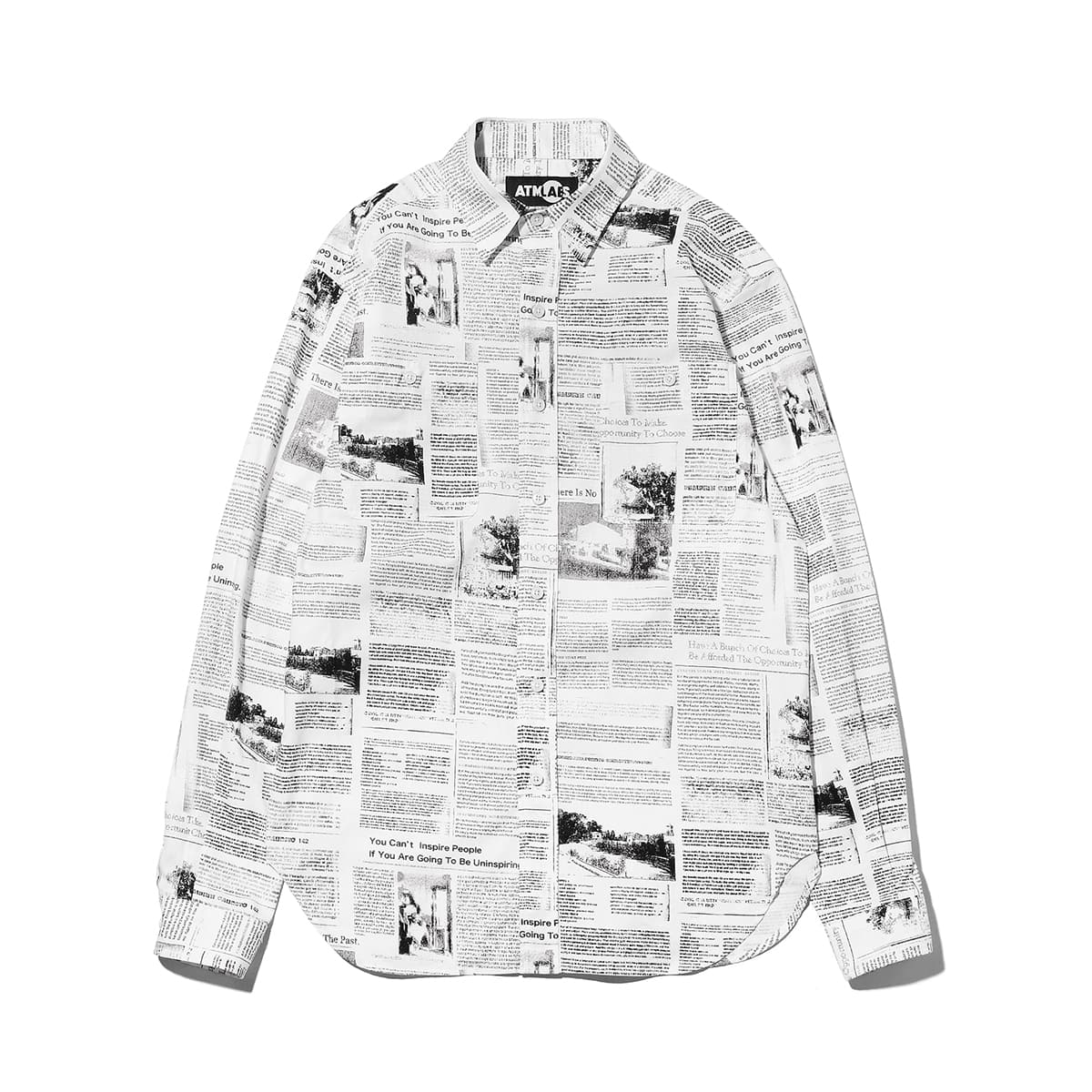 ATMOS LAB NEWS PAPER SHIRT NEWS_photo_large