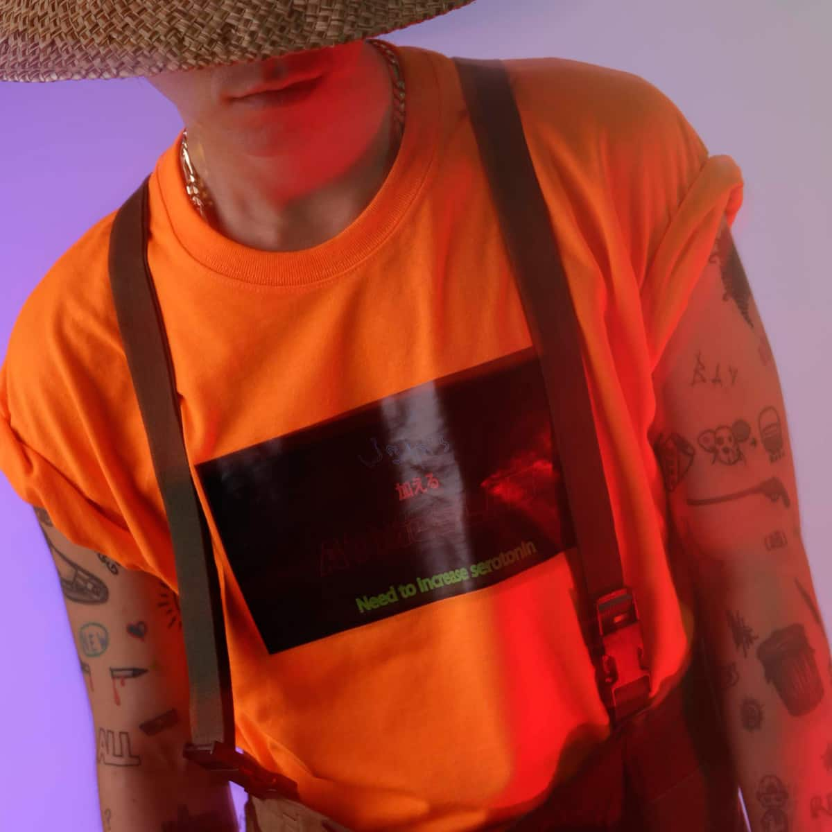 JOHN'S x ATMOS LAB SEROTONIN TEE  ORANGE_photo_large