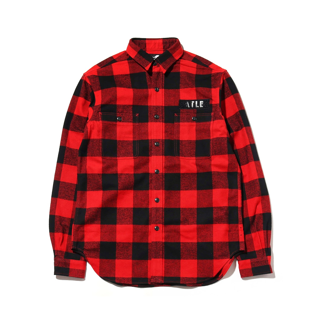 ATMOS LAB FLANNEL SHIRT  RED_photo_large