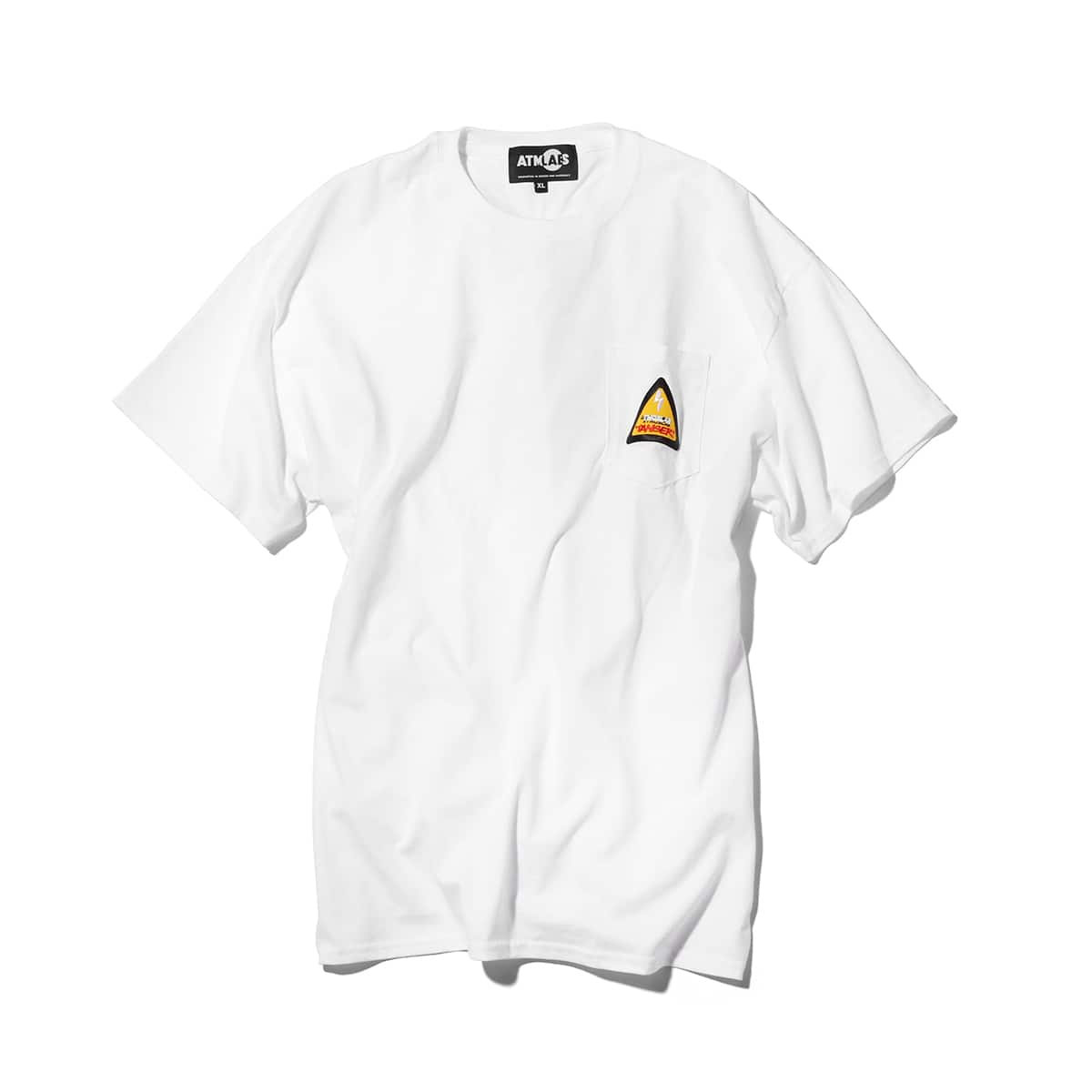 ATMOS LAB DANGER LOGO POCKET TEE  WHITE_photo_large