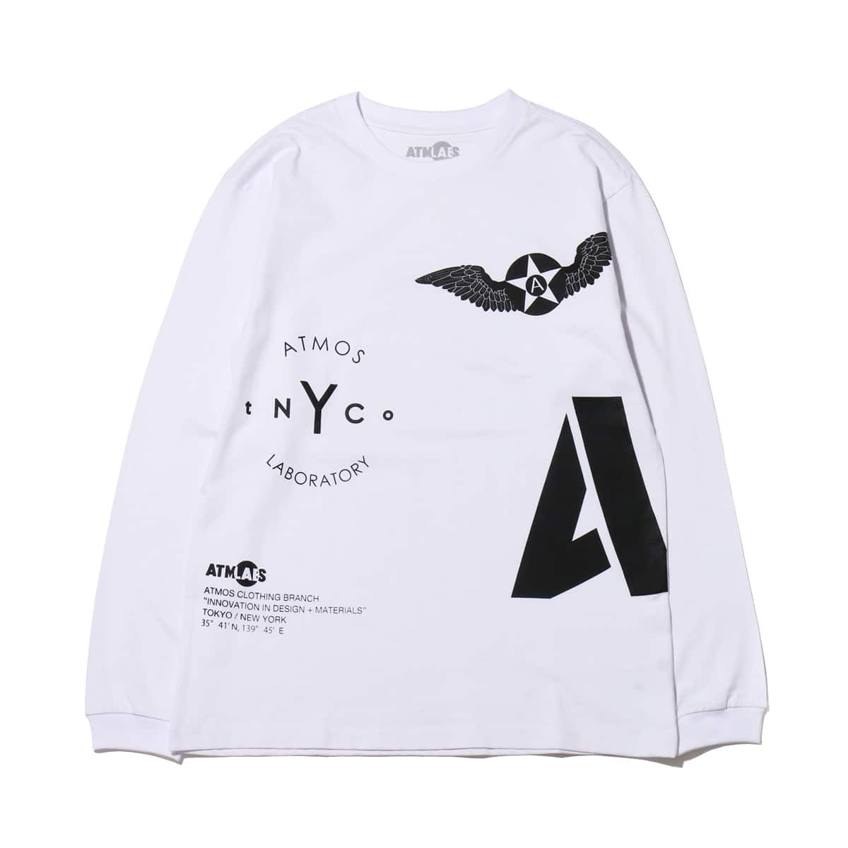 ATMOS LAB ARCHIVE LS TEE  WHITE_photo_large
