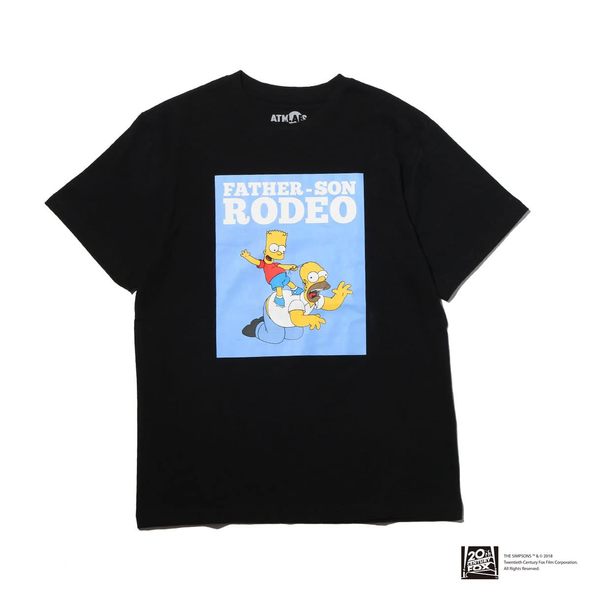 THE SIMPSONS x ATMOS LAB HOMER&BART RODEO TEE  BLACK_photo_large