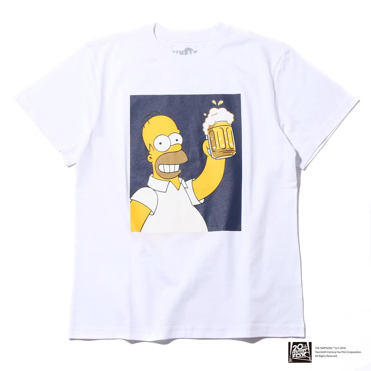 THE SIMPSONS x ATMOS LAB HOMER BEER TEE  WHITE_photo_large
