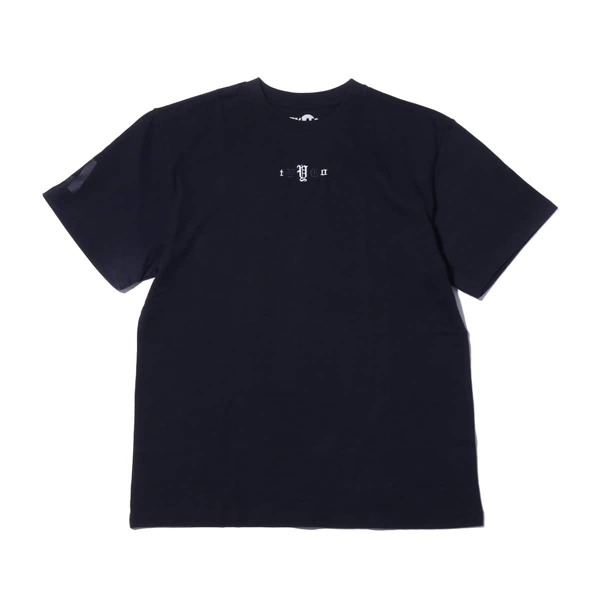ATMOS LAB tNyCo Embroidery TEE  NAVY_photo_large