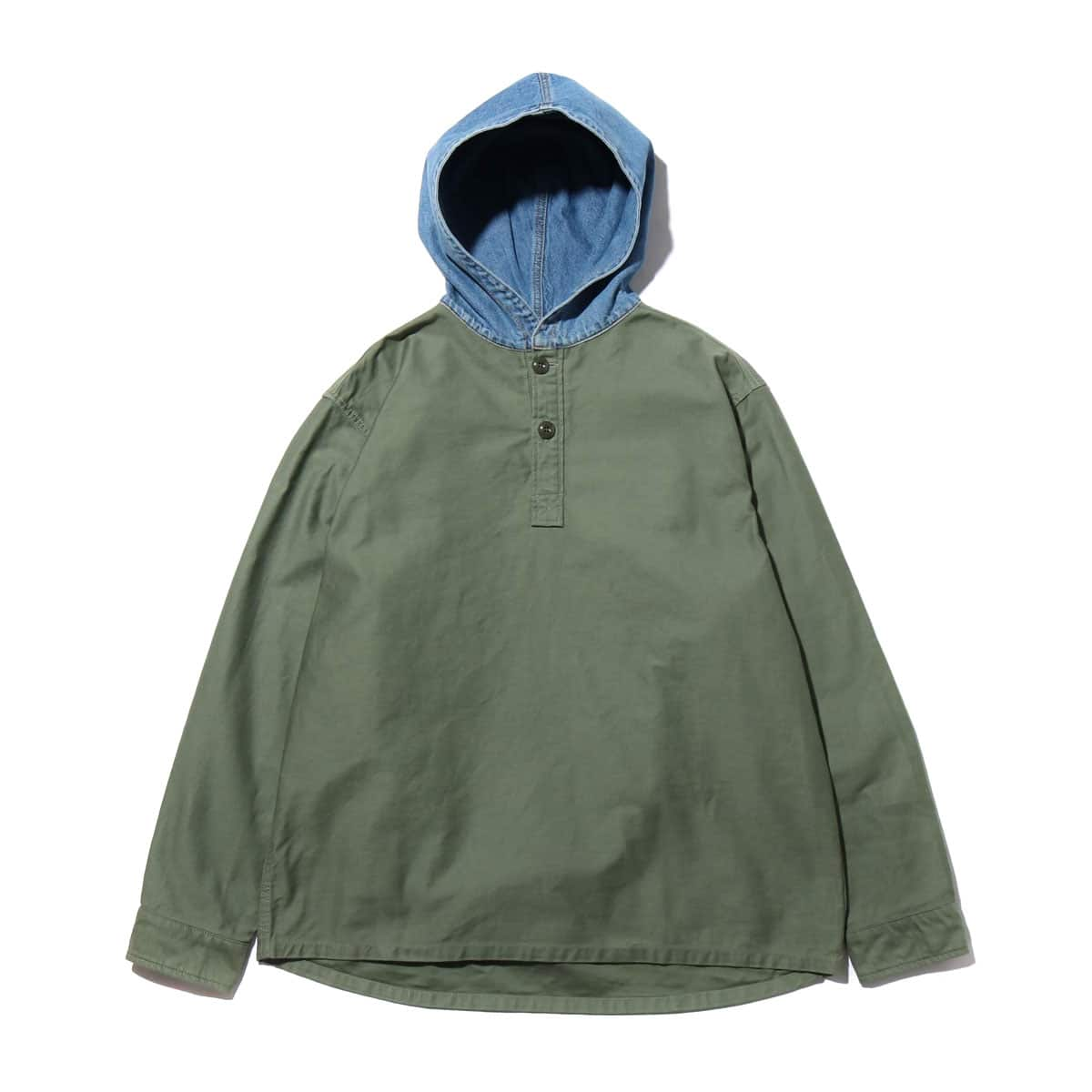 ATMOS LAB PULLOVER HOODED SHIRT OLIVE 19FA-I_photo_large