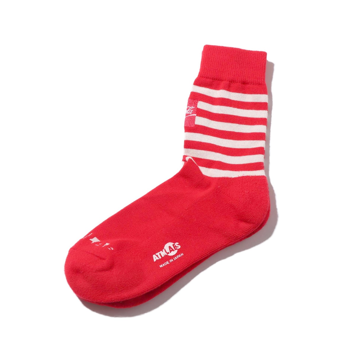 COCA COLA by ATMOS LAB BORDER SOCKS RED 19SS-S_photo_large