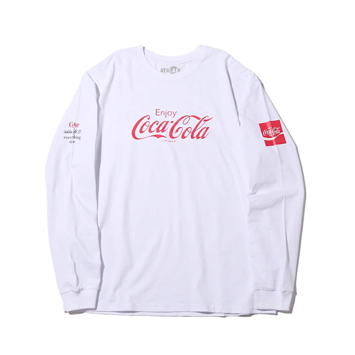 COCA COLA by ATMOS LAB LOGO LS TEE WHITE 19SS-S_photo_large