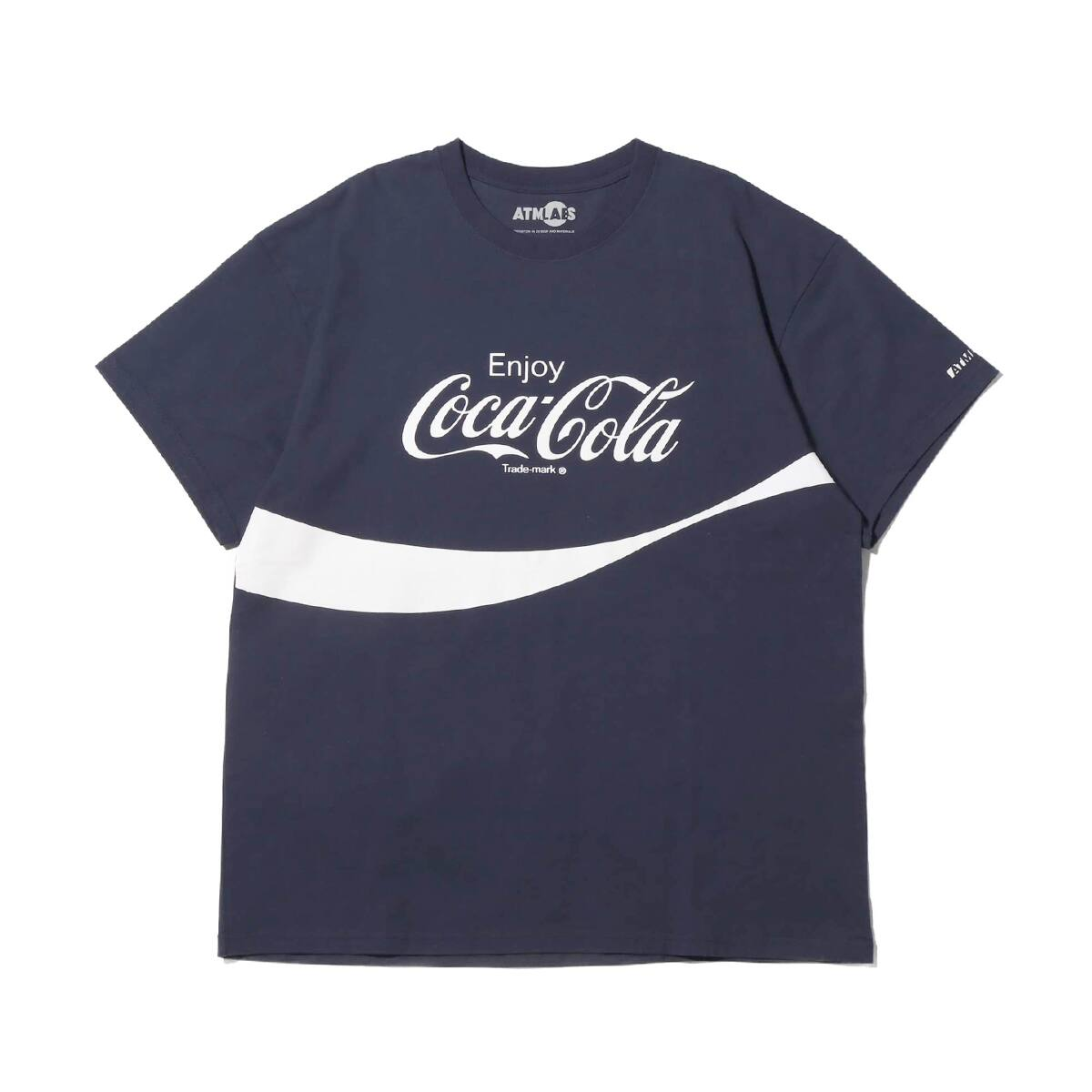 COCA COLA by ATMOS LAB LOGO TEE NAVY 19SS-S_photo_large