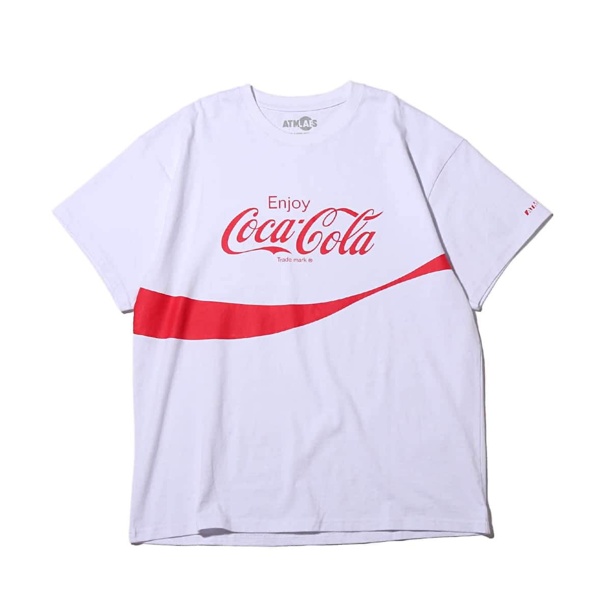 COCA COLA by ATMOS LAB LOGO TEE WHITE 19SS-S_photo_large