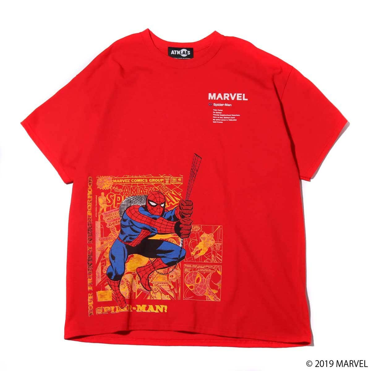 MARVEL x ATMOS LAB TEE SPIDER-MAN RED 19SP-S_photo_large