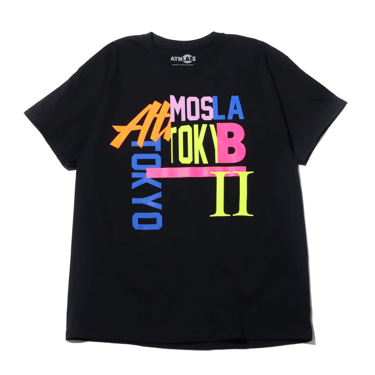 ATMOS LAB MIX LOGO TEE BLACK 19SU-S_photo_large