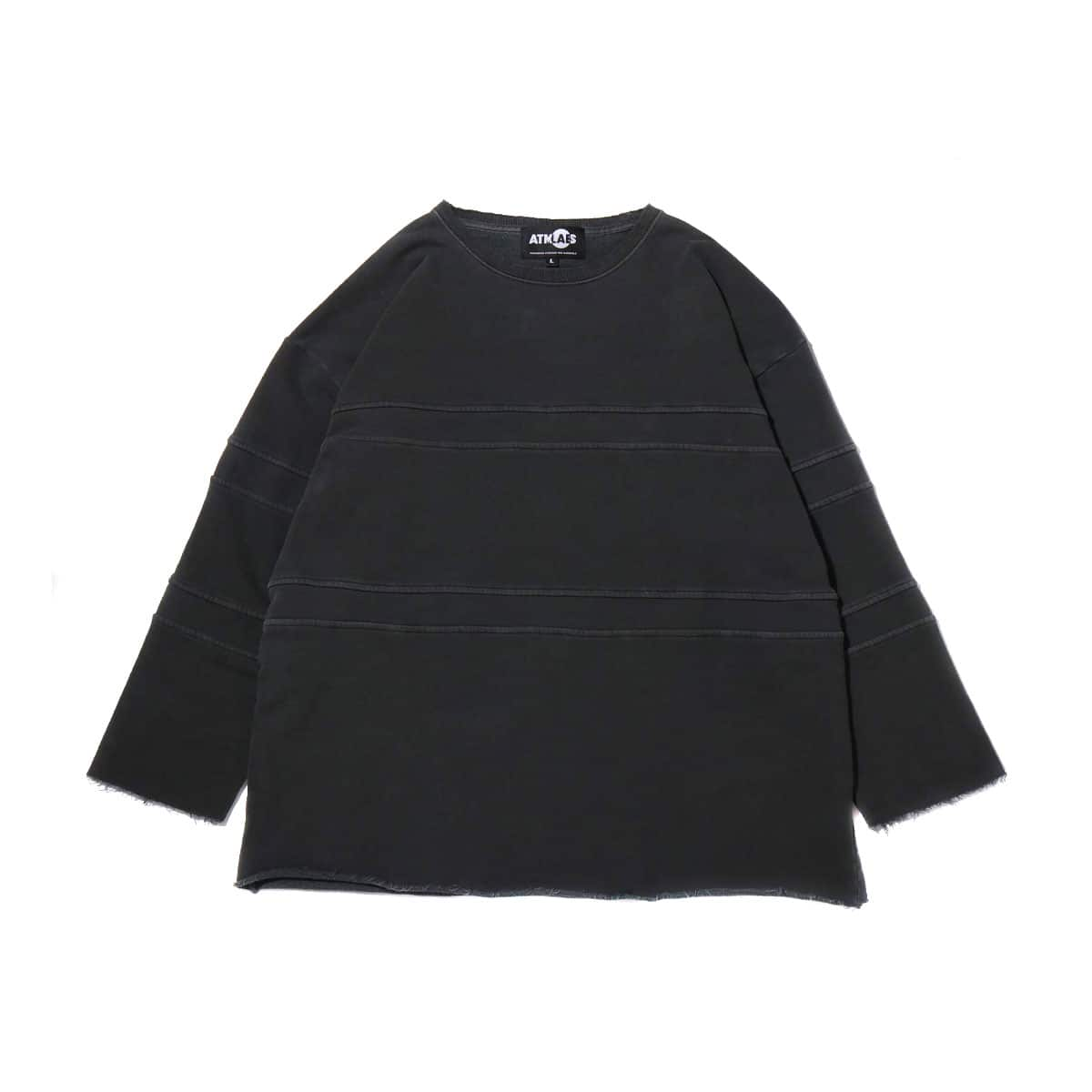 ATMOS LAB OVERDYED CUT OFF BIG SWEAT BLACK 19SS-I_photo_large
