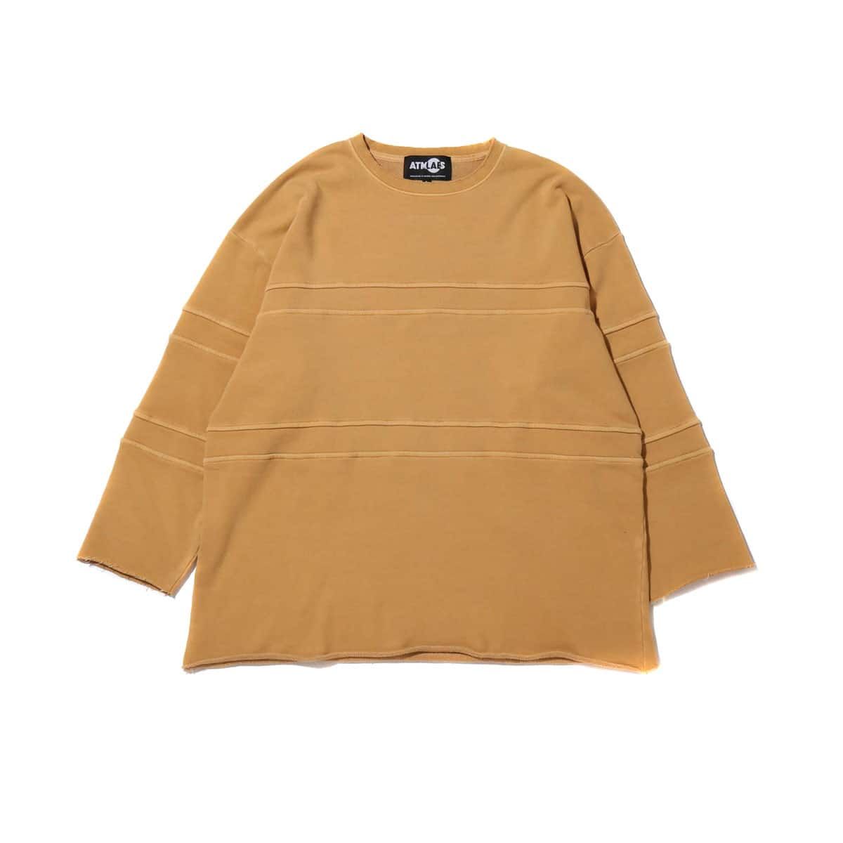 ATMOS LAB OVERDYED CUT OFF BIG SWEAT CAMEL 19SS-I_photo_large