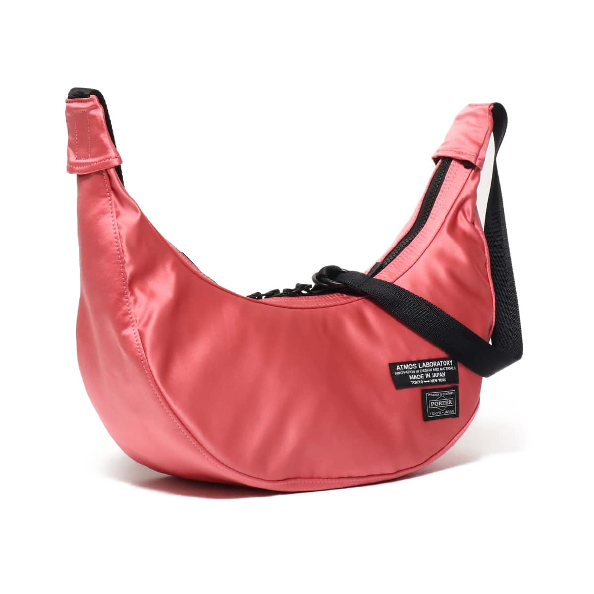 PORTER x ATMOS LAB SATIN SHOULDER BAG PINK 19SU-S_photo_large