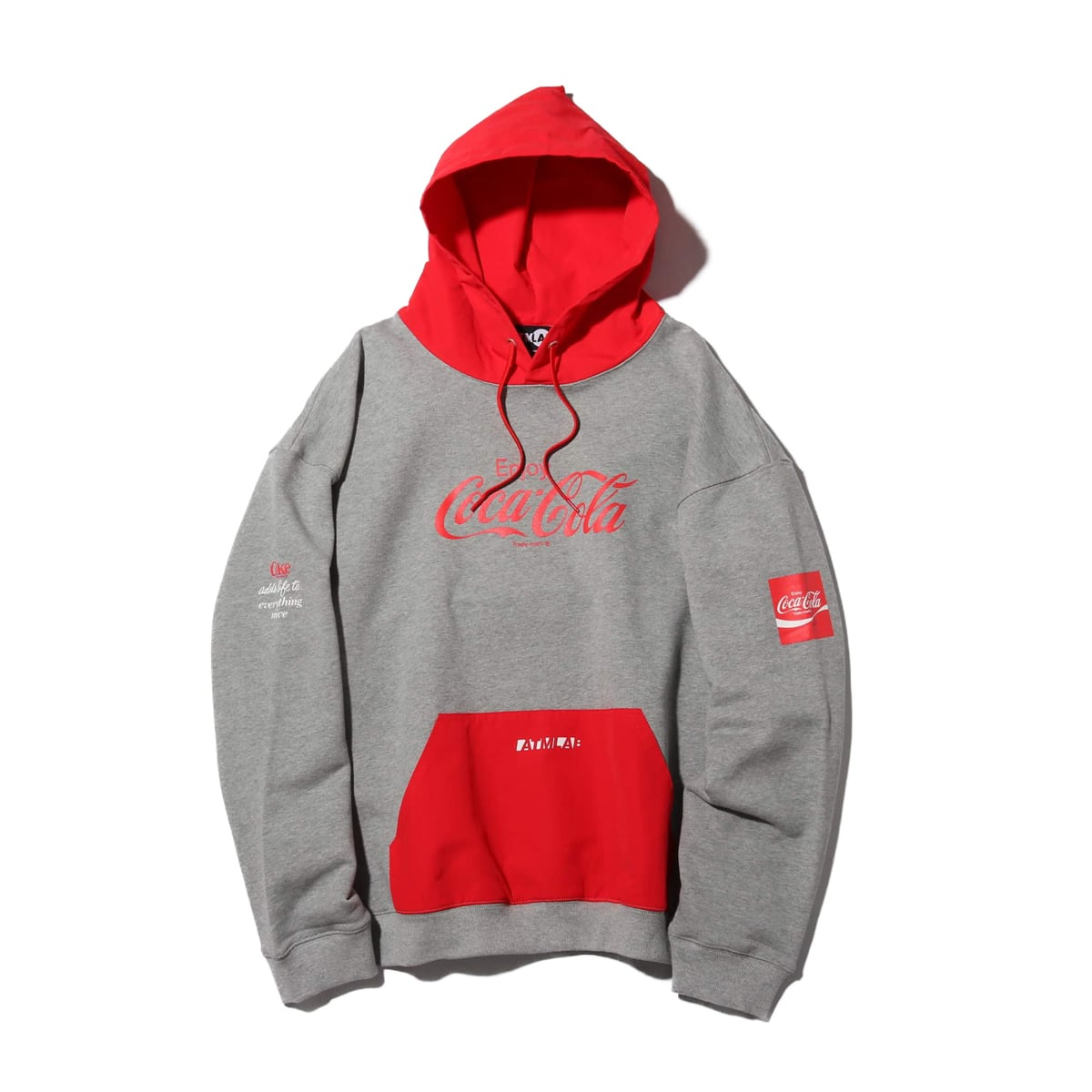 COCA COLA by ATMOS LAB LOGO SWEAT HOODIE RED 19SS-S_photo_large