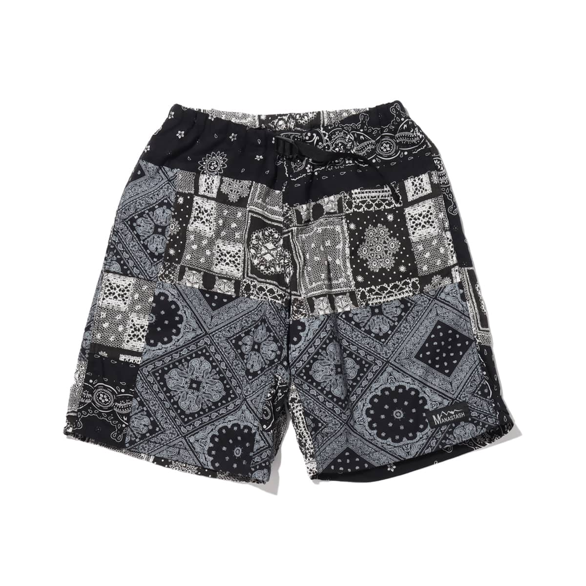 ATMOS LAB x MANASTASH BANDANA PATCHWORK SHORTS BLACK 20SP-S_photo_large