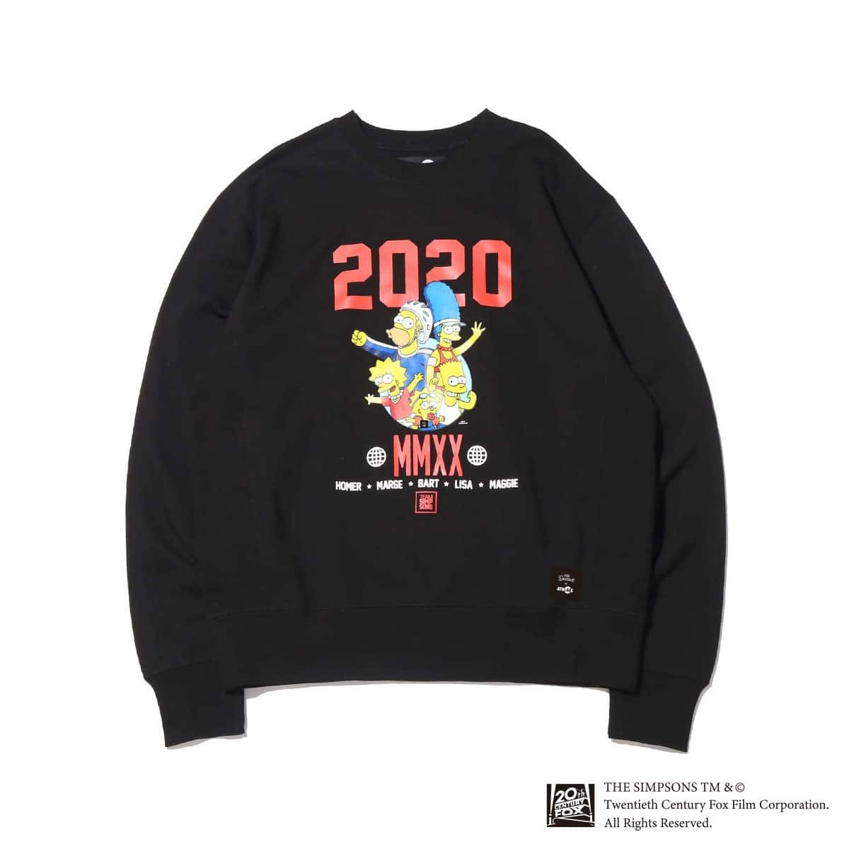 ATMOS LAB x THE SIMPSONS 2020 FAMILY CREW BLACK 20SP-S_photo_large