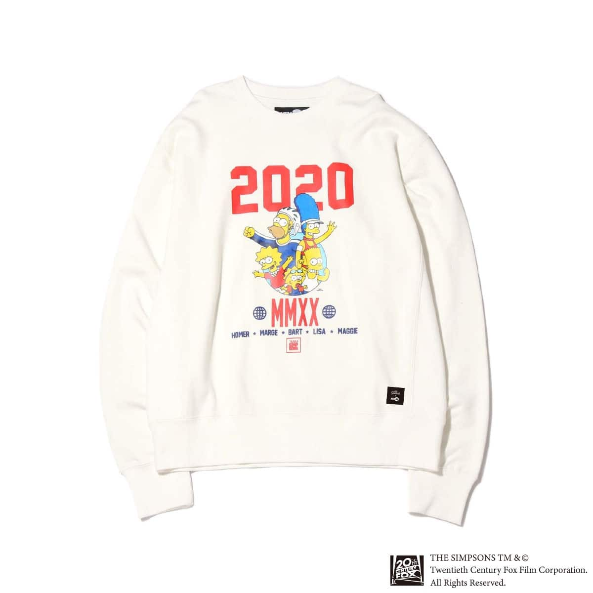 ATMOS LAB x THE SIMPSONS 2020 FAMILY CREW WHITE 20SP-S_photo_large