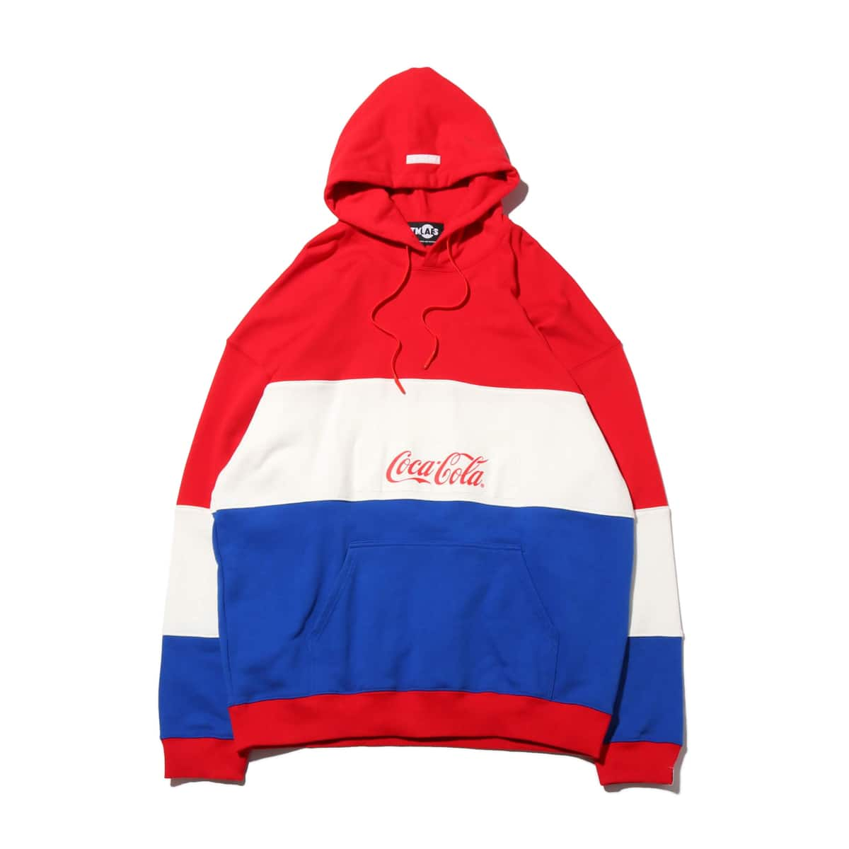 ATMOS LAB x COCA-COLA PANEL BORDER HOODIE RED 20SP-S_photo_large