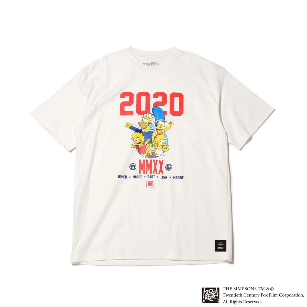 ATMOS LAB x THE SIMPSONS 2020 FAMILY TEE WHITE 20SP-S_photo_large