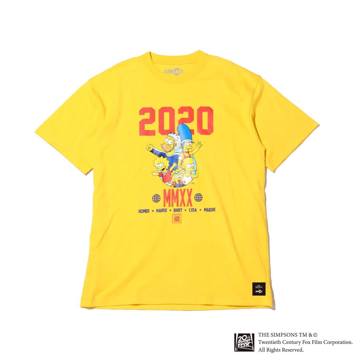ATMOS LAB x THE SIMPSONS 2020 FAMILY TEE YELLOW 20SP-S_photo_large